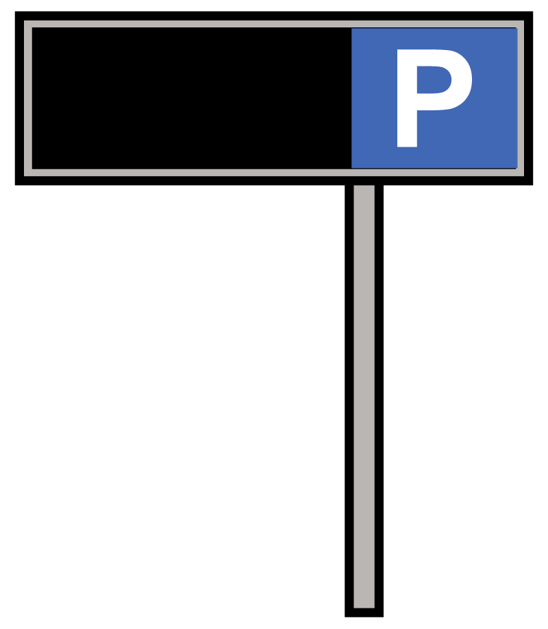 Sign-on-pole